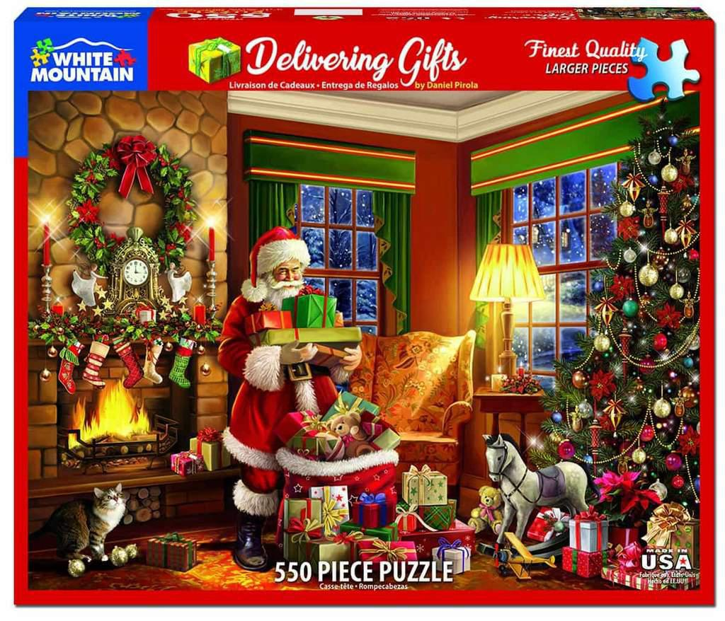 White Mountain Puzzles: Delivering Gifts - 550 Piece Puzzle