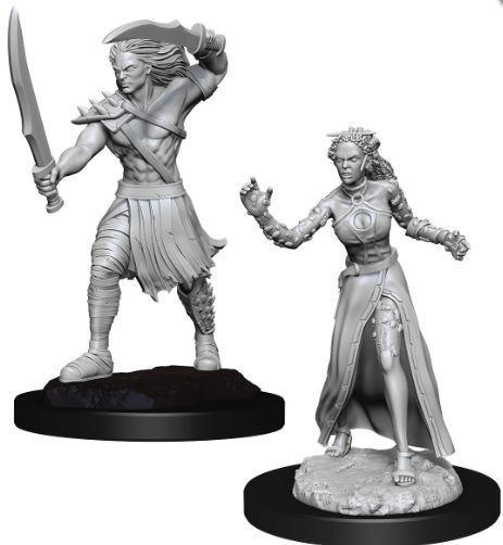Magic the Gathering Miniatures - Vampire Lacerator and Vampire Hexmage - Wave 13 Unpainted (WZK90179)