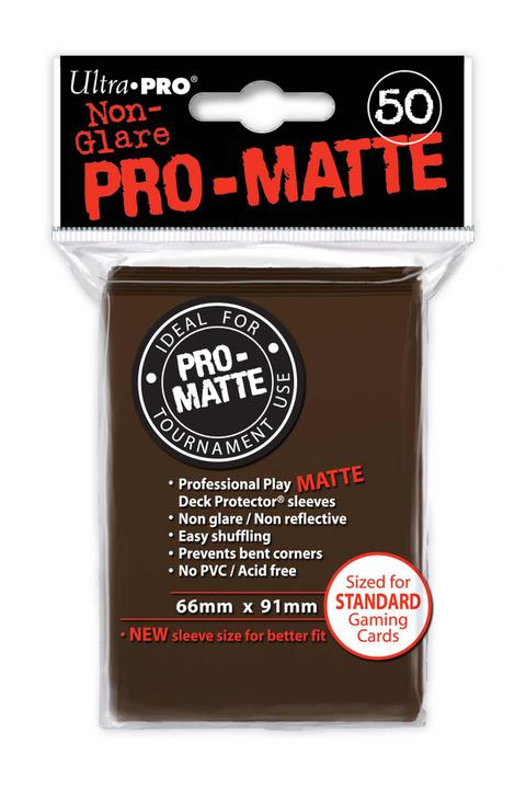 Ultra Pro: PRO-Matte Deck Protector Sleeves - Standard Size Brown (50)