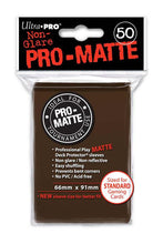 Load image into Gallery viewer, Ultra Pro: PRO-Matte Deck Protector Sleeves - Standard Size Brown (50)