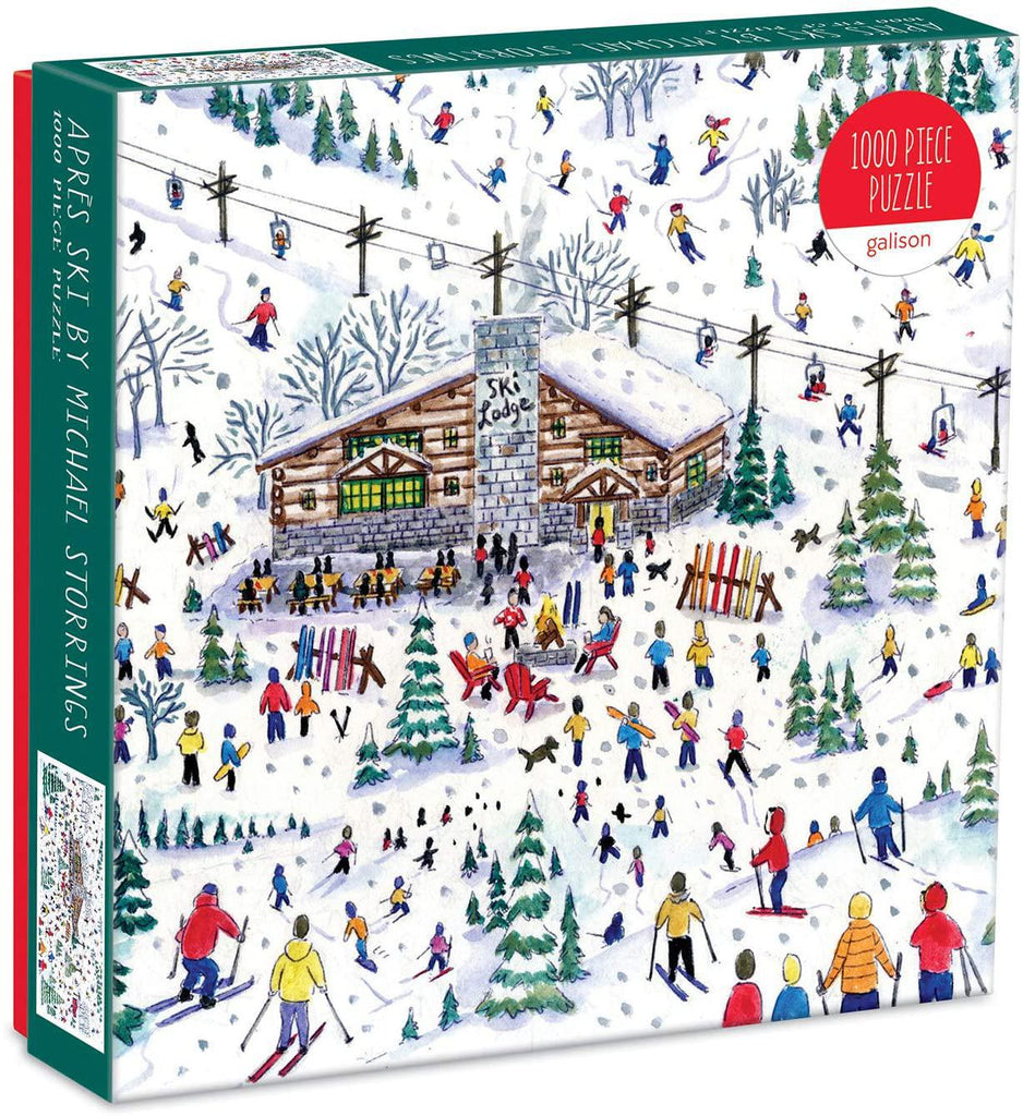 Galison Puzzles: Apres Ski By Michael Storrings - 1000 Piece Puzzle