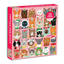 Load image into Gallery viewer, Galison Puzzles: Festive Furballs - 500 Piece Puzzle