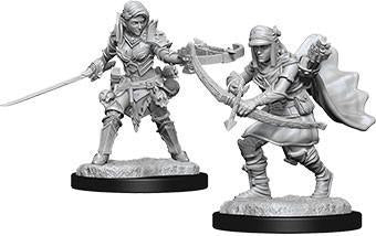 Pathfinder Deep Cuts Miniatures - Half Elf Female Ranger - Unpainted (WZK73545)