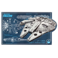 Load image into Gallery viewer, Millennium Falcon Schematic Tin Wall Hang