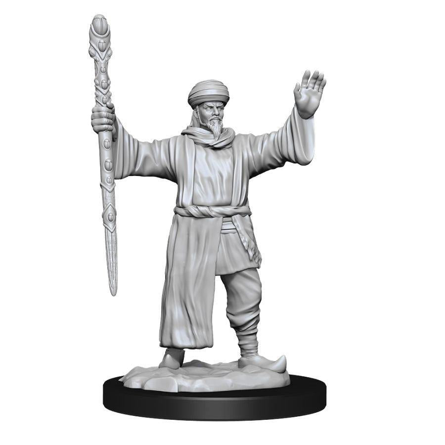 D&D Nolzur's Marvelous Miniatures - Human Male Wizard- Wave 13 Unpainted (WZK90149)