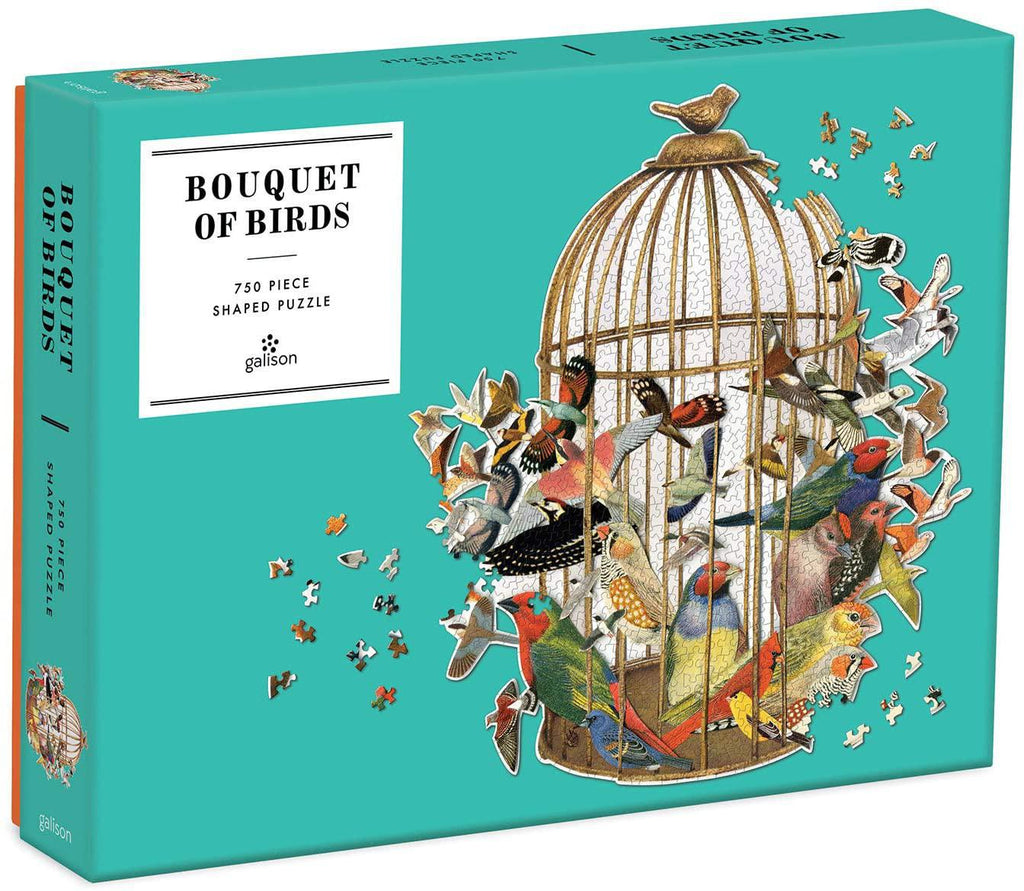 Galison Puzzles: Bouquet of Birds - 750 Piece Shaped Puzzle