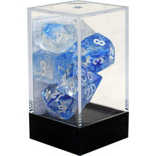 Load image into Gallery viewer, Chessex: Nebula Dark Blue w/ White - Polyhedral Dice Set (7) - CHX27466