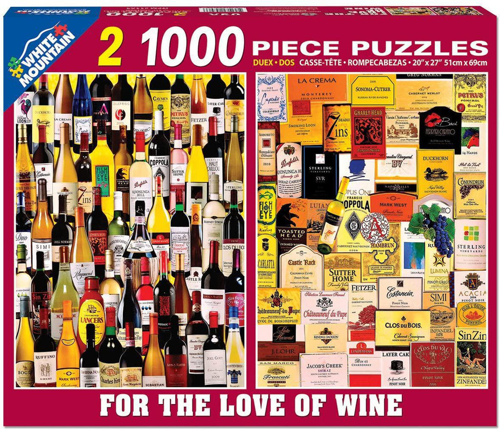 White Mountain Puzzles: For the Love of Wine - Two 1000 Piece Puzzles