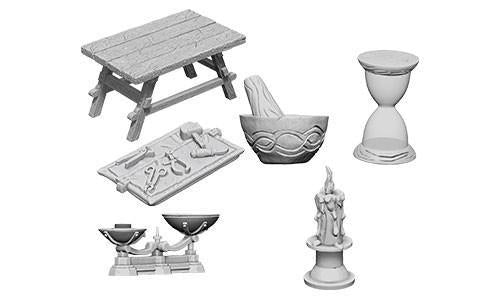 WizKids Deep Cuts Miniatures - Workbench & Tools - Unpainted (WZK73369)