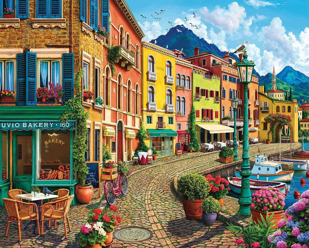 White Mountain Puzzles: Cafe on the Water - 1000 Piece Puzzle