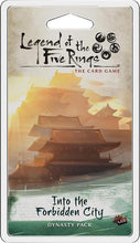 Load image into Gallery viewer, Legend of the Five Rings LCG - Into the Forbidden City Dynasty Pack Expansion