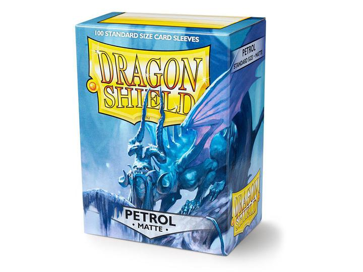 Dragon Shield: Deck Protector Sleeves - Standard Size Matte Petrol [Blue] (100)