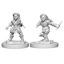Load image into Gallery viewer, D&D Nolzur's Marvelous Miniatures - Halfling Female Rogue - Unpainted (WZK72627)