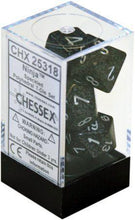 Load image into Gallery viewer, Chessex: Black w/ Grey Speckled Ninja - Polyhedral Dice Set (7) - CHX25318