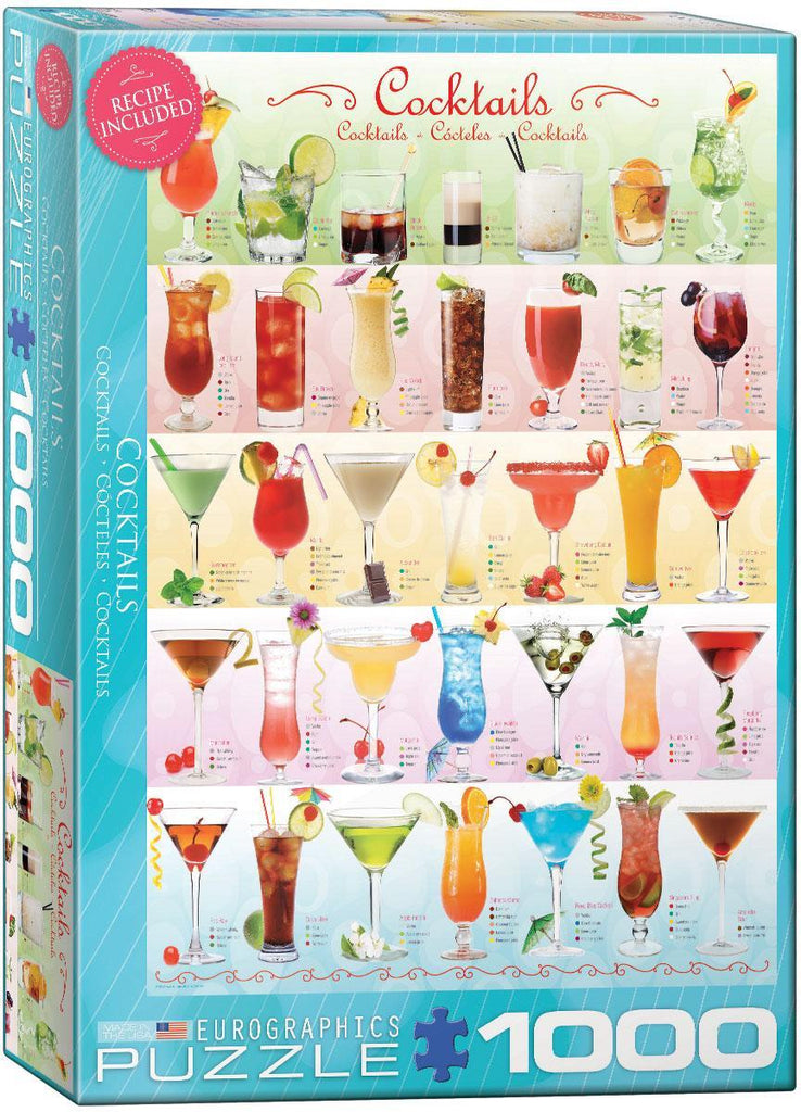 EuroGraphics: Cocktails - 1000-Piece Puzzle