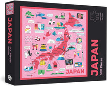 Load image into Gallery viewer, Japan Map: 500 Piece Puzzle
