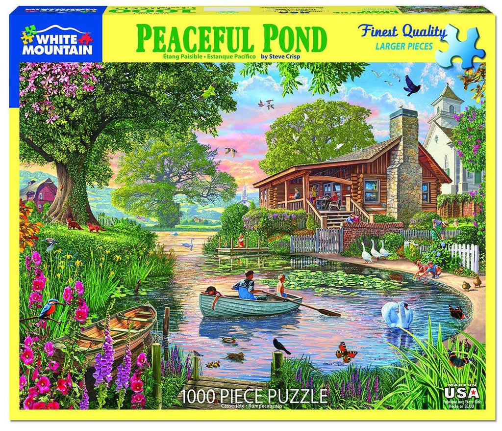 White Mountain Puzzles: Peaceful Pond - 1000 Piece Puzzle