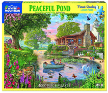 Load image into Gallery viewer, White Mountain Puzzles: Peaceful Pond - 1000 Piece Puzzle
