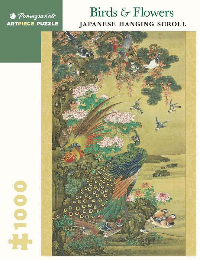 Pomegranate ArtPiece Puzzles: Birds & Flowers - Japanese Hanging Scroll - 1000 Piece Puzzle