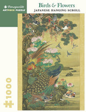 Load image into Gallery viewer, Pomegranate ArtPiece Puzzles: Birds & Flowers - Japanese Hanging Scroll - 1000 Piece Puzzle