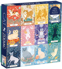 Load image into Gallery viewer, Mudpuppy Puzzles: Cat Zodiac - 500 Piece Puzzle