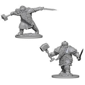 D&D Nolzur's Marvelous Miniatures - Dwarf Male Fighter - Unpainted (WZK72616)