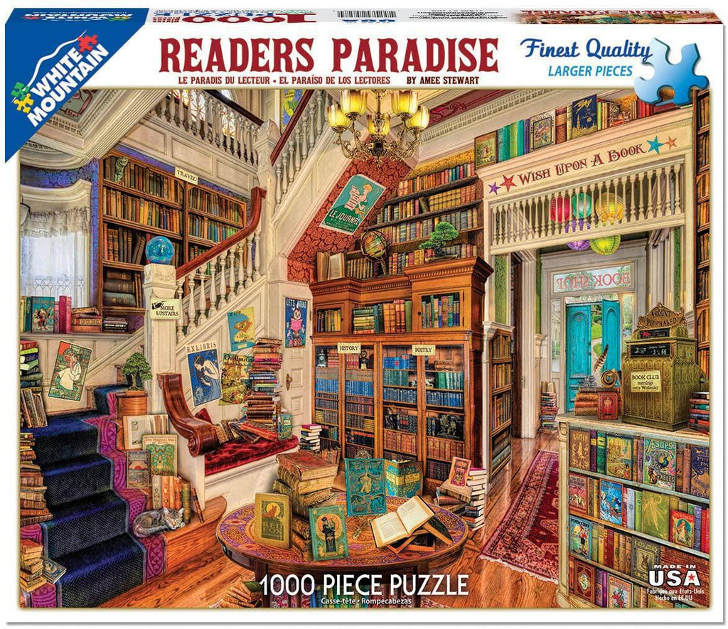 White Mountain Puzzles: Reader's Paradise - 1000 Piece Puzzle