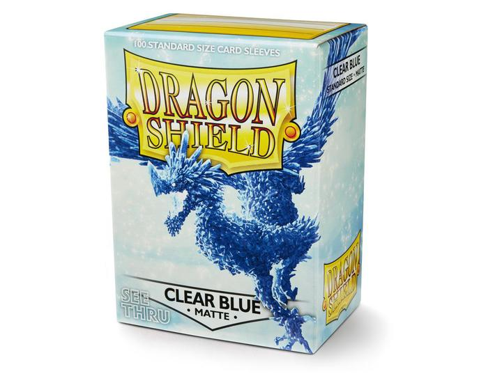 Dragon Shield: Deck Protector Sleeves - Standard Size Matte Clear Blue (100)