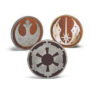 Star Wars Metal and Wood Die Cut Insignias