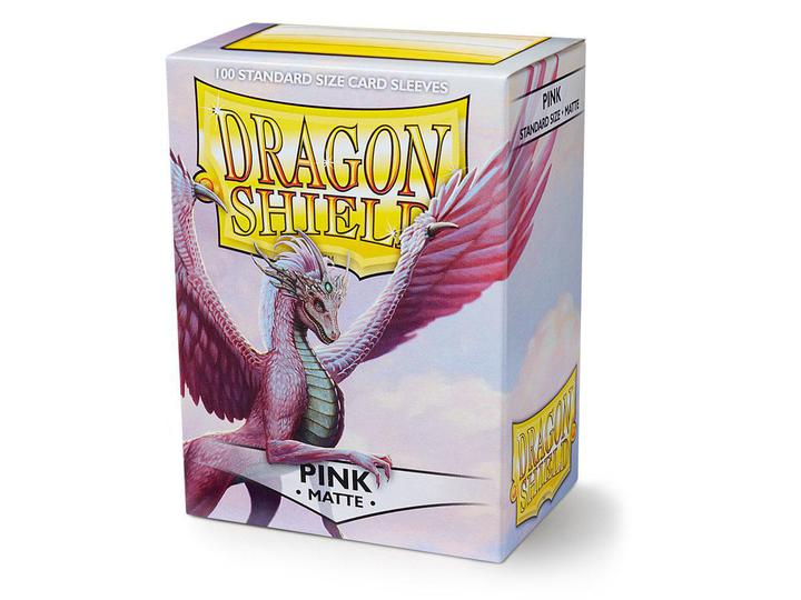 Dragon Shield: Deck Protector Sleeves - Standard Size Matte Pink (100)