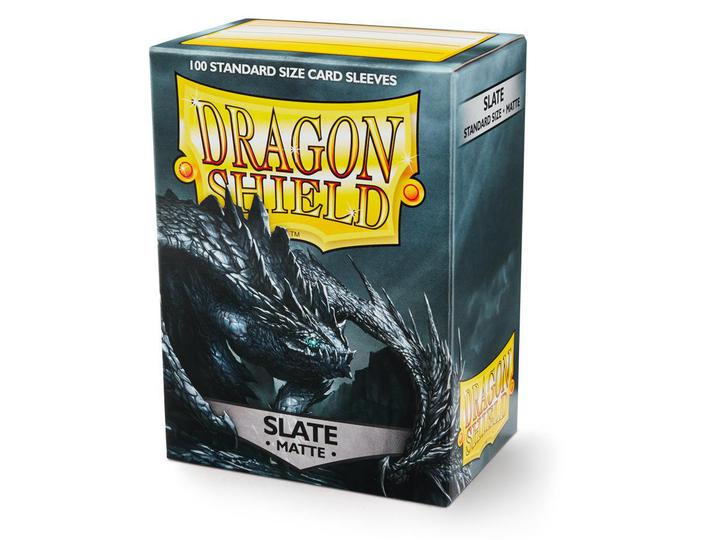 Dragon Shield: Deck Protector Sleeves - Standard Size Matte Slate [Black] (100)