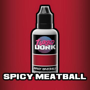 Turbo Dork: Metallic Acrylic Paint- Spicy Meatball (20ml)