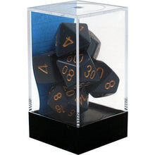 Load image into Gallery viewer, Chessex: Opaque Dusty Blue w/ Copper - Polyhedral Dice Set (7) - CHX25426