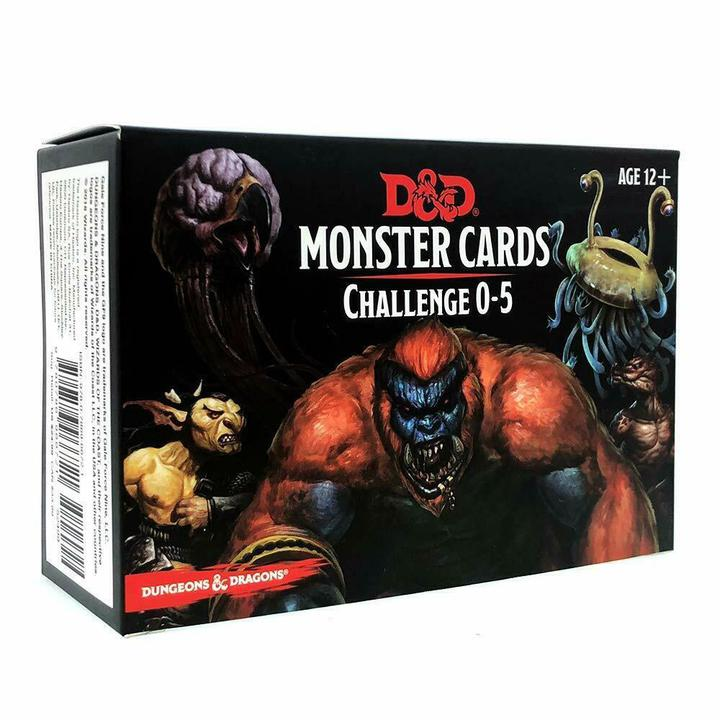 D&D Monster Cards - Challenge 0-5