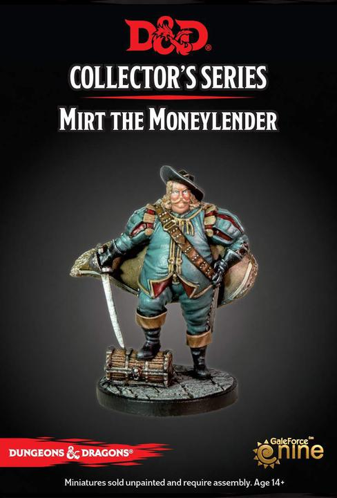 D&D Collector's Series Miniatures - Mirt Moneylender - Unpainted