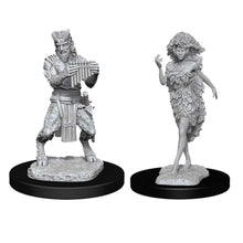 Load image into Gallery viewer, D&D Nolzur's Marvelous Miniatures - Satyr & Dryad - Wave 11 Unpainted (WZK90018)