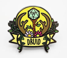 Load image into Gallery viewer, Foam Brain Games: Banner Class Pins - Druid