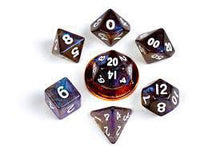 Load image into Gallery viewer, Metallic Dice Games: Stardust Galaxy 10mm - Mini Polyhedral Dice Set (7)
