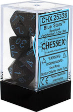 Load image into Gallery viewer, Chessex: Speckled Blue Stars Dark Blue w/ Blue - Polyhedral Dice Set (7) - CHX25338