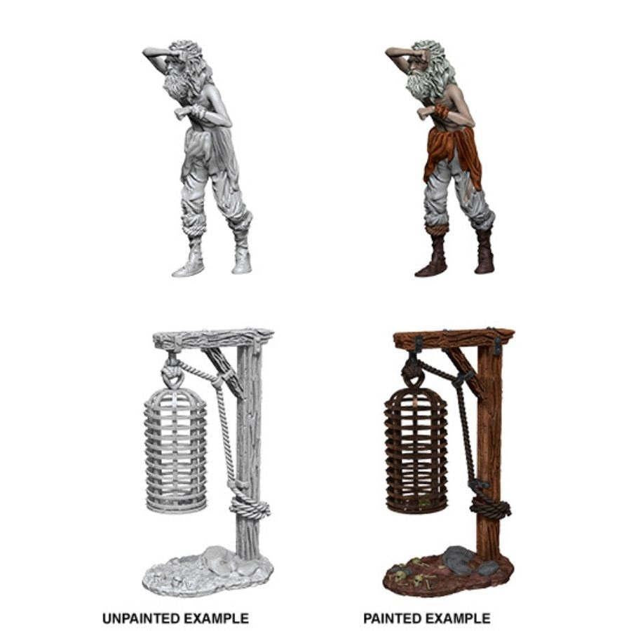 WizKids Deep Cuts Miniatures: Hanging Cage - Wave 12.5 Unpainted (WZK90211)
