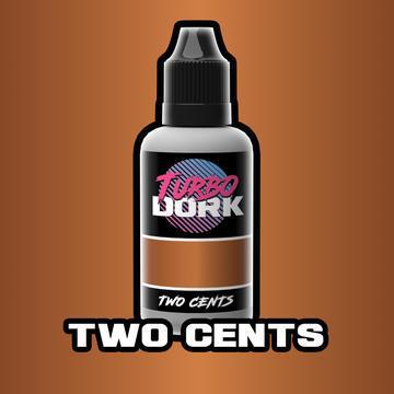 Turbo Dork: Metallic Acrylic Paint- Two Cents (20ml)