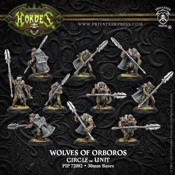 Hordes: Circle of Orboros - Reeves & Wolves Unit (Plastic)