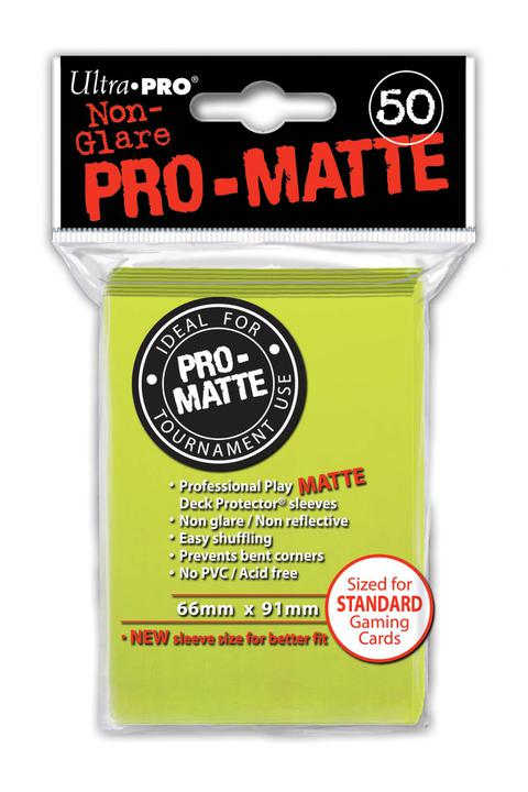 Ultra Pro: PRO-Matte Deck Protector Sleeves - Standard Size Bright Yellow (50)