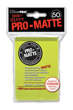 Load image into Gallery viewer, Ultra Pro: PRO-Matte Deck Protector Sleeves - Standard Size Bright Yellow (50)