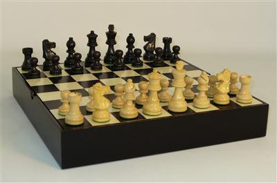 Chess - Black French Chessmen on Chest