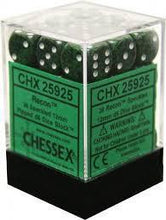 Load image into Gallery viewer, Chessex: Speckled Recon Green w/ White - 12mm d6 Dice Set (36) - CHX25925