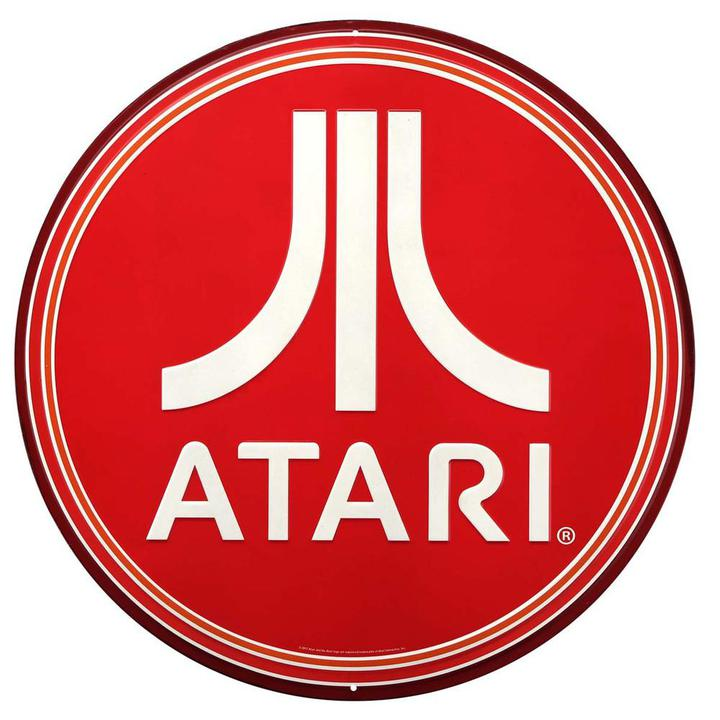 Round Atari Tin Wall Hang