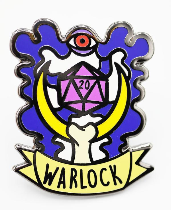 Foam Brain Games: Banner Class Pins - Warlock