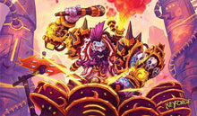 Load image into Gallery viewer, Fantasy Flight: 'Drummernaut' Playmat for Keyforge