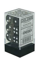 Load image into Gallery viewer, Chessex: Translucent Smoke w/ White - 16mm d6 Dice Set (12) - CHX23608